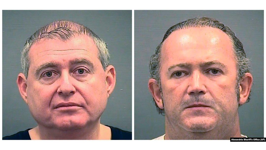 Lev Parnas (left) and Igor Fruman were arrested on October 9.