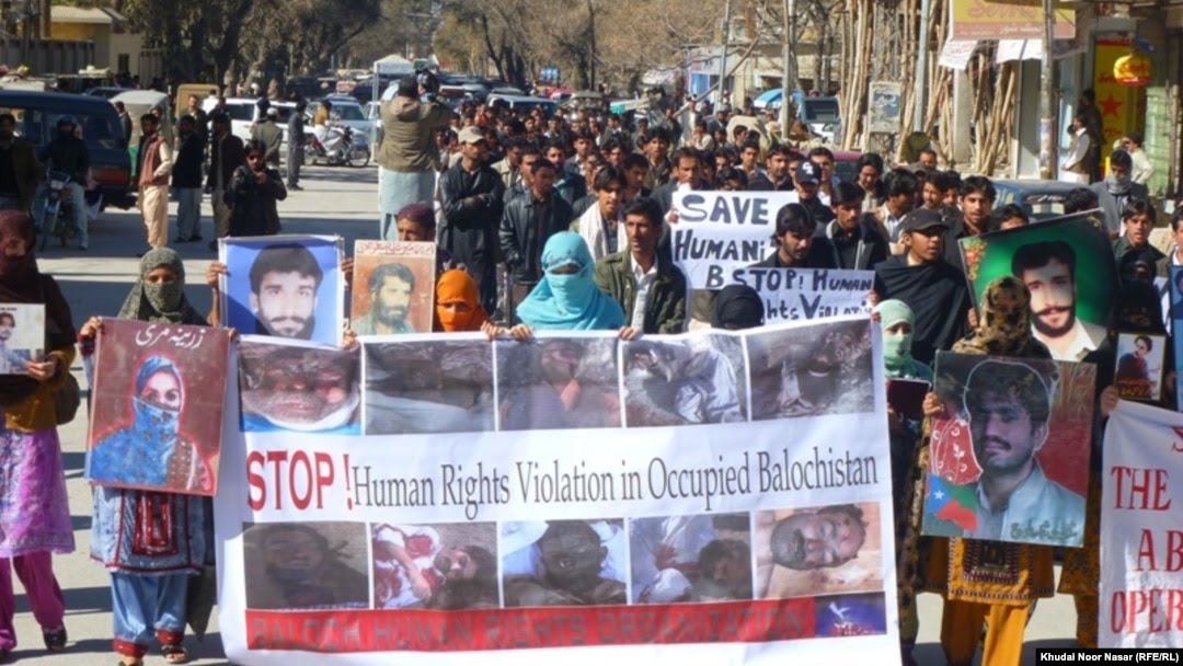 FILE: Family members of victims of forced disappearances protest in Balochistan's capital Quetta.