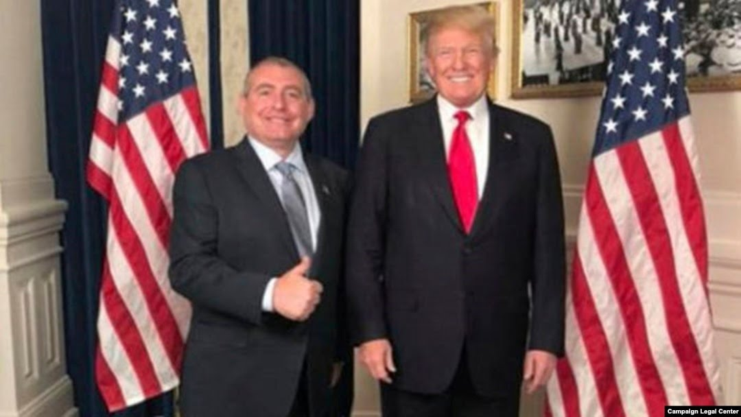 Parnas has often seemed to move in high circles. This 2018 social media post appears to show him at the White House with President Donald Trump.